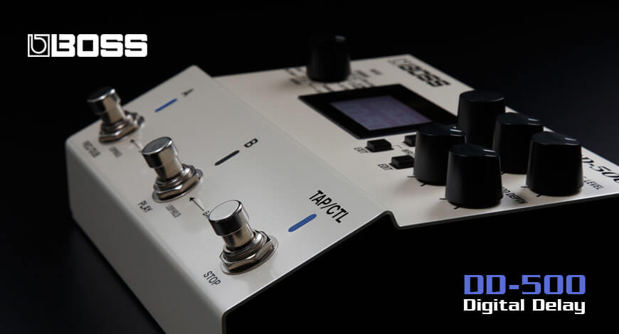 Boss Digital Delay Pedal DD-500 Home Banner