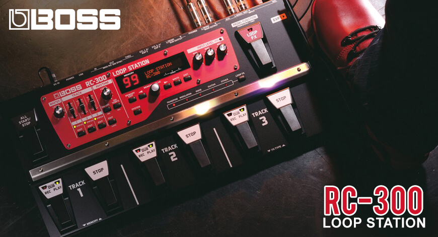 Boss Loop Station RC-300 Home Banner