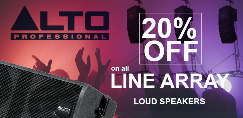 Line Array Home Banner