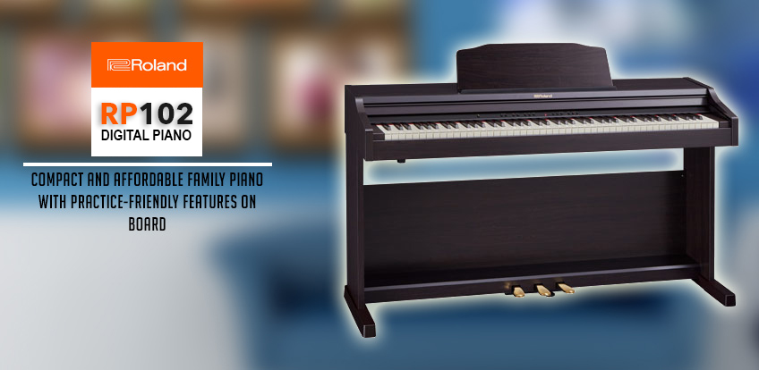 Roland Digital Piano RP102-CRL Home Banner