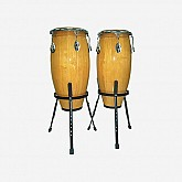 PP Congas Set With Stands Natural PP10N